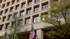 FBI Building Washington DC - stock footage