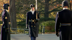 Arlington Cemetery - Changing of the Guards - stock footage