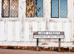 Lavenham street - stock photo