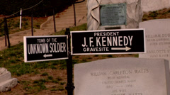 JFK Kennedy Gravesite Stock Footage