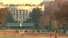 The White House in Washington DC at Christmas  - stock footage