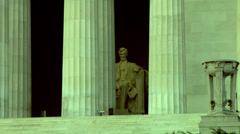 Stock Video Footage of Statue of Abraham Lincoln at the Lincoln Memorial, Washington DC, USA