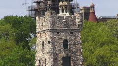 Castle Tower, Old Buildings, Medieval Stock Footage