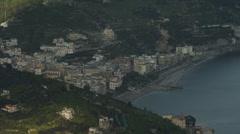 T/L WS HA View of Amalfi Coast / Italy - stock footage