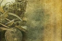 old machinery vintage background. - stock illustration