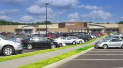 Walmart Supercenter Establishing Shot Stock Footage