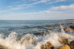 Rocky ocean shore Stock Photos