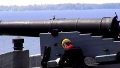 Cannons, Artillery, Weapons, Colonial Stock Footage