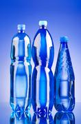 Stock Photo of Water bottles as healthy drink concept