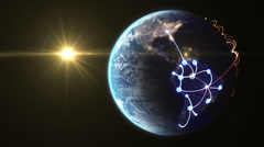 Growing network across the world. beautiful 3d animation - stock footage