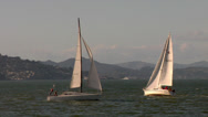 Stock Video Footage of Cruising Sailboats