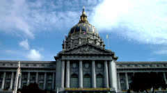 San Francisco City Hall  Beaux-Arts Architecture - stock footage