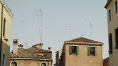 MS Old buildings / Venice,Italy Stock Footage