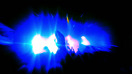 Stock Video Footage of Silhouetted Concert Footage  Blue