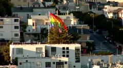 Rainbow Flag Stock Footage