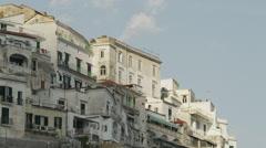 WS LA PAN Buildings at Amalfi Beach / Italy - stock footage