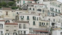 WS Buildings at Amalfi Beach / Italy - stock footage