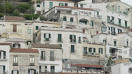Stock Video Footage of WS Buildings at Amalfi Beach / Italy