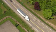 Trucks, Tractor Trailer, Cargo, Delivery Stock Footage