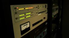 Radio signal modulator metering Stock Footage