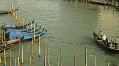 MS HA Boat traffic on Grand Canal / Venice,Veneto,Italy Stock Footage