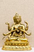 Hindu mythology traditional statuette - stock photo