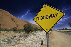 Storm, Signs and Symbols in the Australian Outback Stock Photos