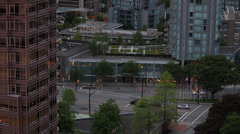 West Vancouver Residential Streets at dusk Stock Footage