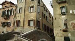 MS LA PAN Old buildings / Venice,Italy Stock Footage