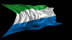 Flag of Sierra Leone Stock Footage
