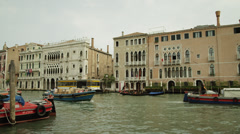 WS Motorboats on canal / Venice,Italy Stock Footage