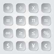 Math financial symbols Stock Illustration