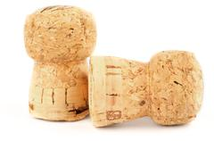 Champagne corks - stock photo