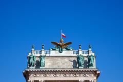 Yksityiskohta Imperial Palace Wienissä, Itävallassa Kuvituskuvat