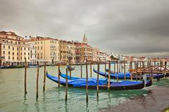 Cloudy day in Venice - stock photo