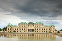 The Belvedere palace, Vienna - stock photo