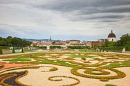 Stock Photo of Park in Belvedere palace, Vienna