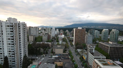 West Vancouver Streets with Mountain View Stock Footage