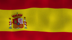 Spain Flag Textile Background Stock Footage