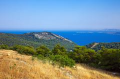 Greek islands at sunny day - stock photo