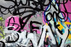 Abstract colorful graffiti background Stock Photos