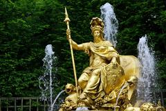 Fountain in the park of Versailles Stock Photos