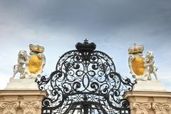 Gate in Belvedere palace, Vienna Stock Photos