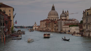 Stock Video Footage of WS Boat traffic on Grand Canal / Venice,Veneto,Italy