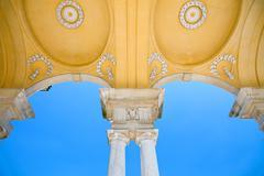 The detail of Gloriette in Schonbrunn, Vienna Stock Photos