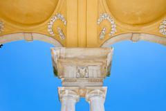 The detail of Gloriette in Schonbrunn, Vienna - stock photo