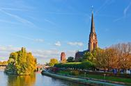 Stock Photo of evangelical church in Frankfurt