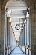 colonnade in Karlovy Vary - stock photo