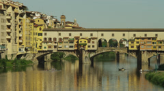 WS Ponte Vecchio / Florence,Tuscany,Italy Stock Footage