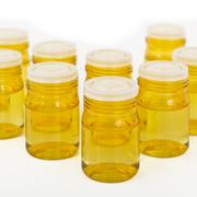 cosmetic glass containers - stock photo